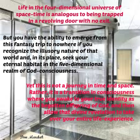Life in the four-dimensional universe of space-time is analogous